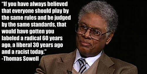 Then Senator Biden Questions Thomas Sowell on Race Based Preferences