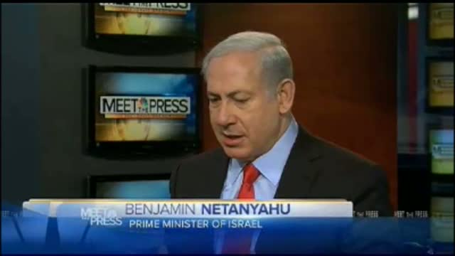 Netanyahu Tells NBC's Gregory 'You're Trying to Throw Me Under the Bus of American Politics'