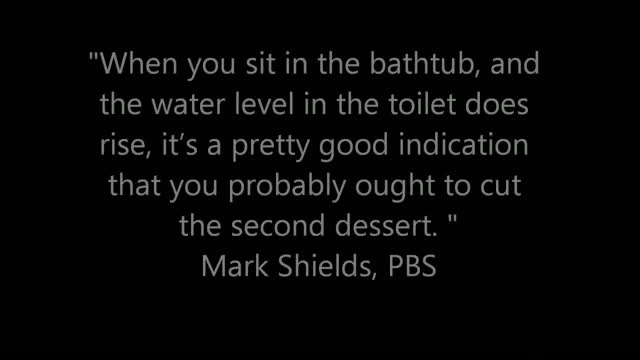 Mark Shields on Christie's Weight: When You Sit in the Bathtub and Water Rises in the Toilet It's a Problem