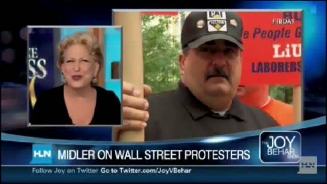 Bette Midler Offers To Send Porta-Potties to Occupy Wall Street Protests