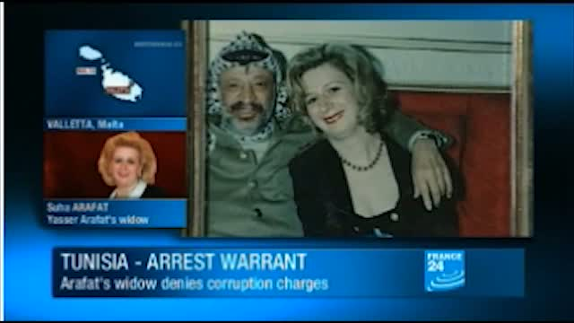 Arafat widow wanted in Tunisia
