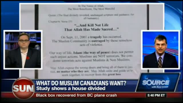 Ezra on the Canadian Queens U study on Islamic sympathies in Canada Nov 1 2011