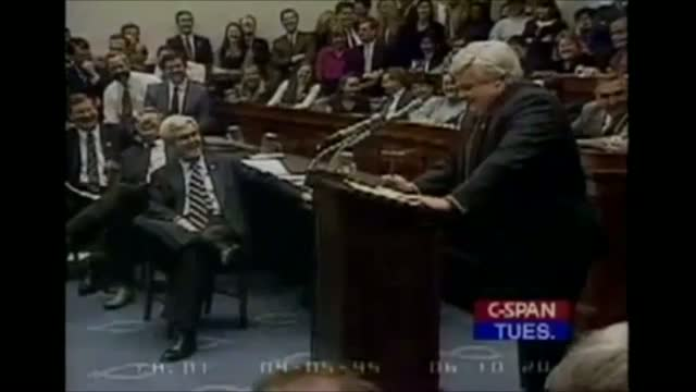 Chris Farley Impersonates Newt Gingrich at 1995 House Republican Conference Meeting