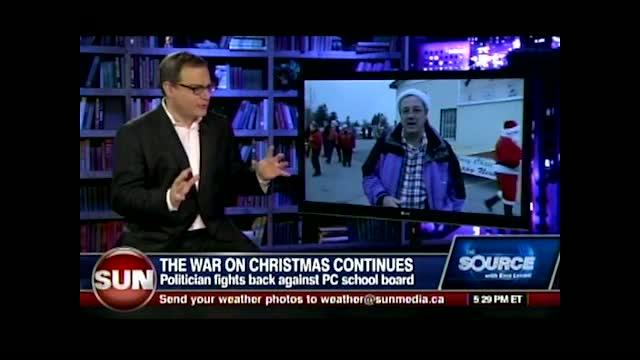 Ezra Levant with Randy Hillier fighting for Christmas in Ontario