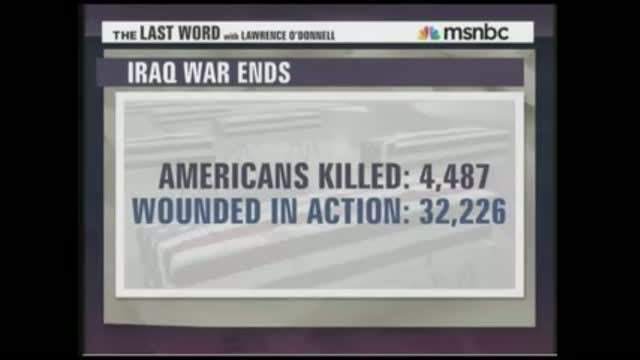 MSNBC's O'Donnell Absurdly Claims U.S. Military 'Chose' to Stay in Iraq