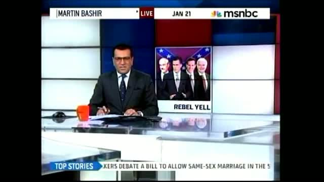 MSNBC's Bashir Superimposes Republican Candidates In Front Of Confederate Flag