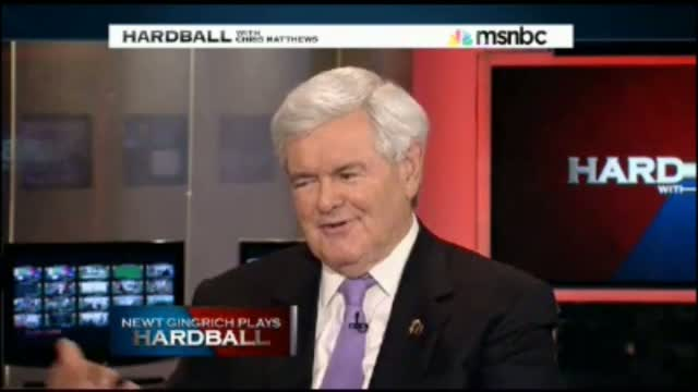 Newt Gingrich Tells Chris Matthews &#039;You Have a More Ruthless Approach to Politics Than I Do&#039;