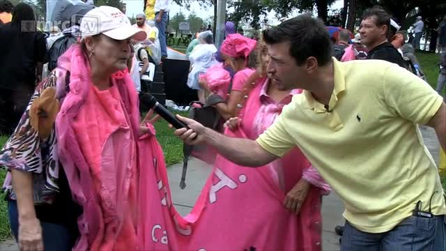 Code Pink &#039;Vagina&#039; Protest at the RNC Convention