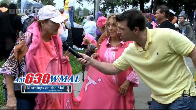 MRCTV&#039;s Dan Joseph WMAL interview on Code Pink Protest at RNC Convention
