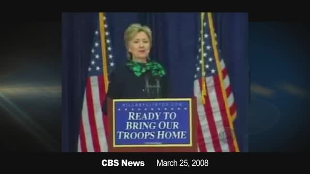 Flashback: Hillary Clinton Under 'Sniper Fire' In Bosnia