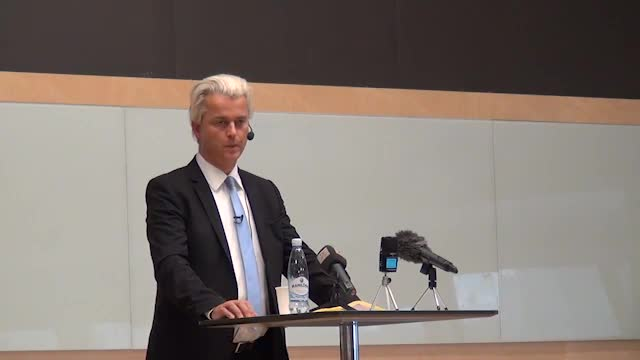 Q&A session after Geert speech in Malmo