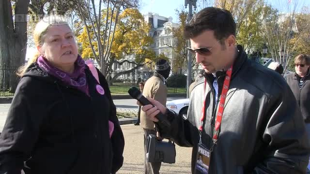 CodePink Protester: Soldiers Vote GOP Like They &#039;Drink and Smoke and be Christians&#039;