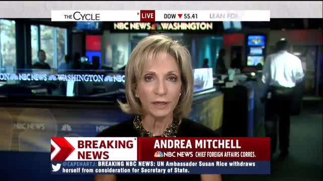 NBCs Andrea Mitchell: Republicans Forced Out Woman of Color Susan Rice