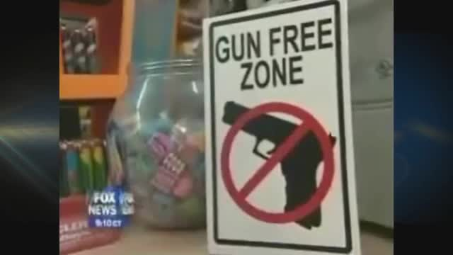 1/2 Hour News Hour 'Gun-Free Zone' parody