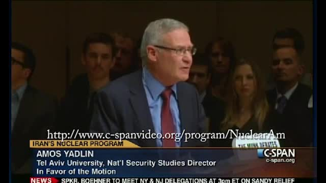 15 of 90 minutes of the C-SPAN debate on Iranian nukes