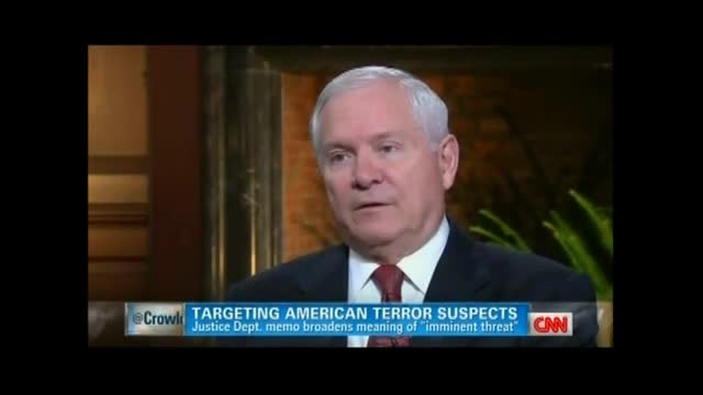 Former Defense Secretary Gates: Should Be 'Some Check' on President Launching Drones at Americans