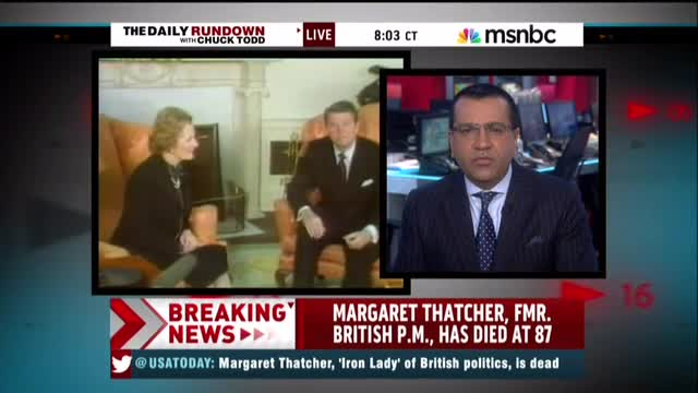 After Learning of Her Death, MSNBC's Bashir Trashes Thatcher: 'Divisive, Selfish' Instigated 'Race Riots'