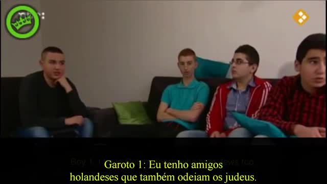 Muslim kids in Holland display deep antisemitism Portuguese subtitles