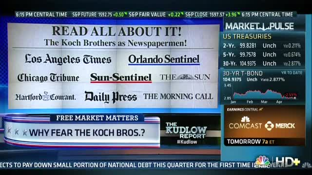 Bozell Discusses Koch Bros. Interest in Buying Tribune Newspapers