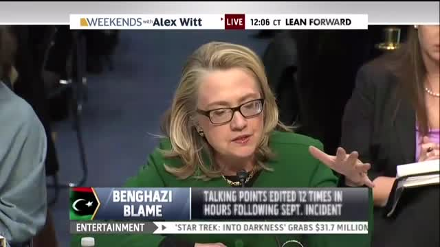 MSNBC's Alex Witt Suggests Hillary's 'What Difference Does It Make' Was Taken Out of Context