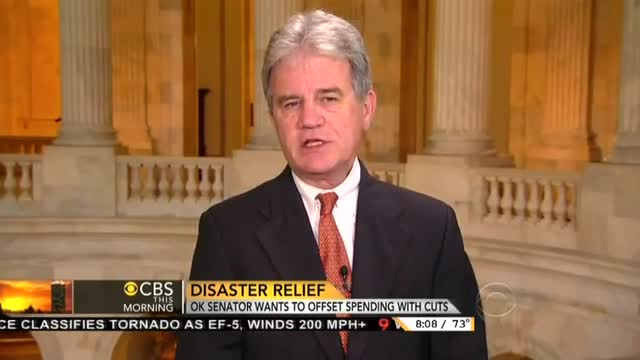 Gayle King to Tom Coburn: Deficit-Neutral Disaster Relief Risks 'Alienating Your Constituents'