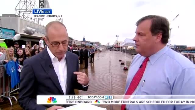 Christie Dismisses Climate Change Question from NBC's Lauer as 'Distraction,' 'Esoteric Theory'