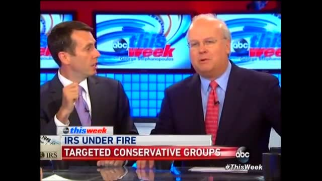 Rove to Former Obama Advisor Plouffe Claiming IRS Scandal Wasn't Political: 'Baloney'