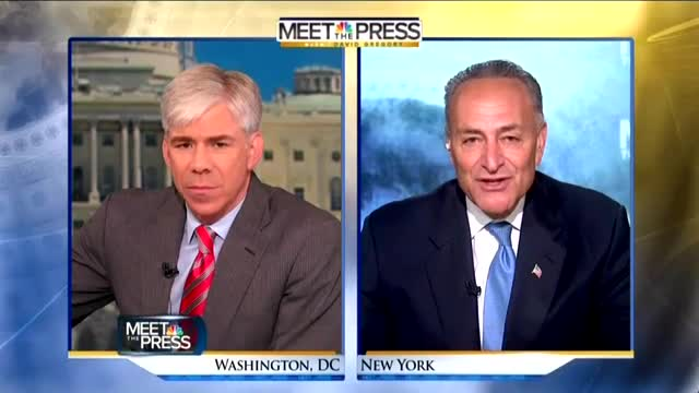 NBC's Gregory Invites Schumer to Issue 'Warning' to GOP: Move On From Obama Scandals