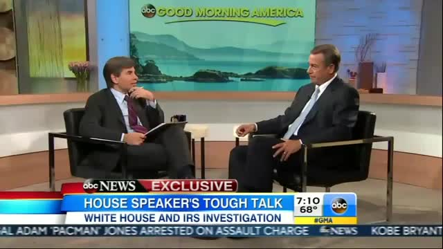 George Stephanopoulos Spouts Obama's IRS Talking Points to John Boehner