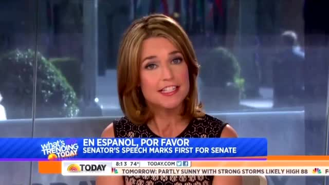 'Today' Hosts Gush Over Dem Senator Pushing Immigration Bill in Spanish