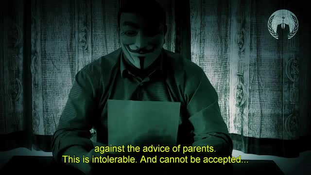 English translation of French Anonymous video targeting Sharia For Belgium