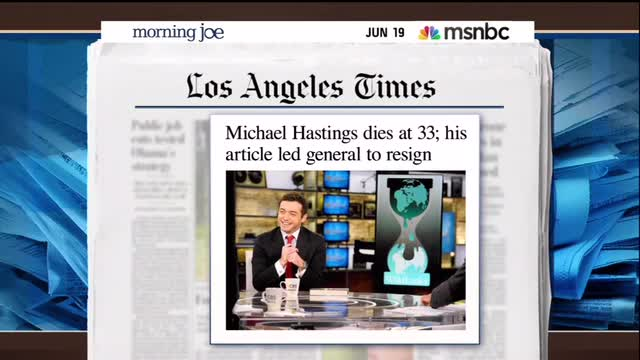 Morning Joe Bleeps The Late Michael Hastings Calling Out Hillary Spox's 'BS' On Benghazi
