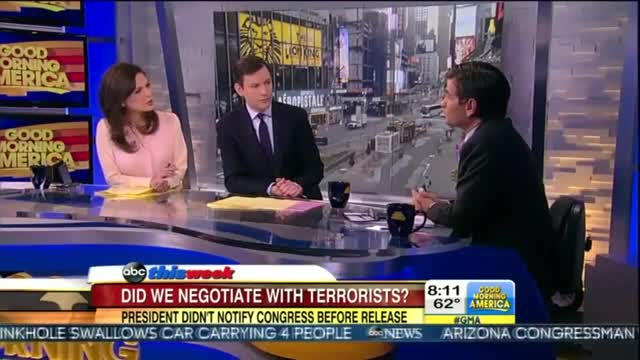 ABC's Stephanopoulos Spins for Obama After White House Fails to Notify Congress Prior to Releasing Terrorist Prisoners