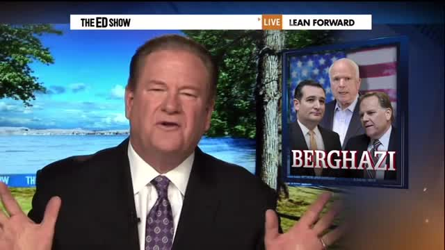 Unhinged Ed Schultz Questions Ted Cruz's Patriotism for Speaking out on Prisoner Swap