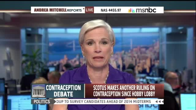 Andrea Mitchell Promotes Planned Parenthood's New Birth Control Hotline
