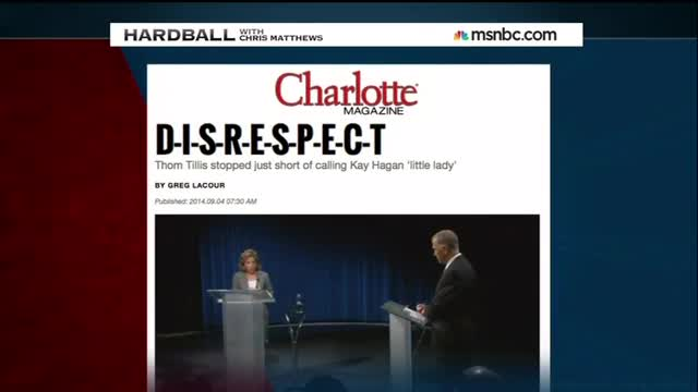 It Begins: Chris Matthews Sees Sexism from GOP Candidate in NC Senate Race