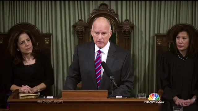 NBC NN Fawns Over Liberal California Governor Jerry Brown Being Sworn In For Fourth Term