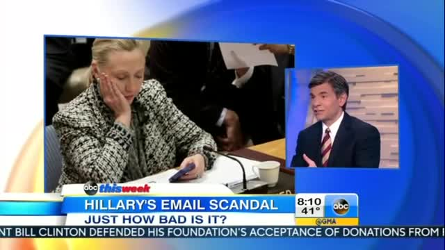 George Stephanopoulos Wonders if Clinton's 'CriticsOverreact' on Email Scandal