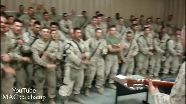 Marines Sing 'Lord I Lift Your Name On High'