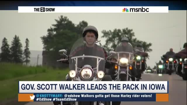 Schultz Show Compares Scott Walker on Harley to Dukakis in Tank