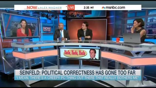 Shorter MSNBC: Seinfeld's Jab at PC Isn't Valid Because He's Rich