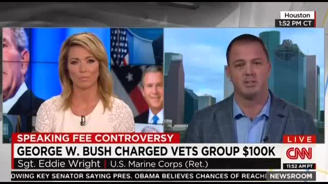 CNN's Baldwin Hypes Controversy Over Bush's Speaking Fee; Never Covered Clintons