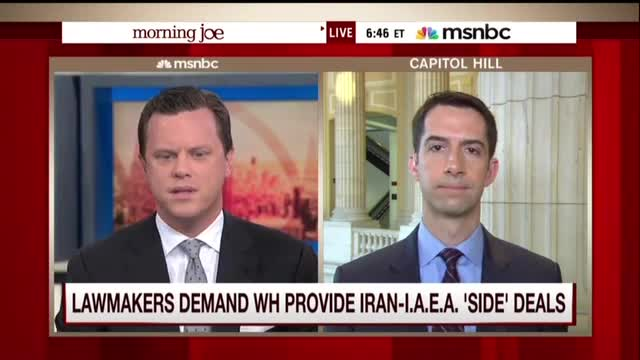 Tom Cotton: 'Kerry Acted Like Pontius Pilate' on Iran Side Deals