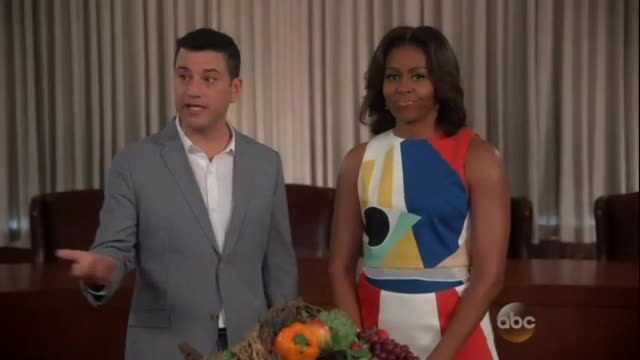 Jimmy Kimmel Boosts Michelle Obama's Healthy Eating Project