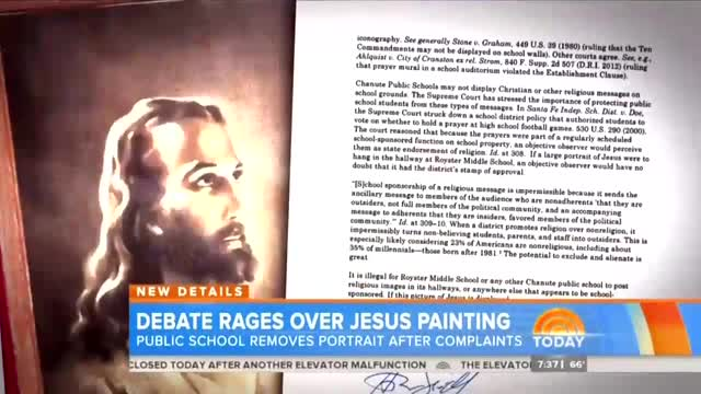 NBC Touts Left-Wing Atheist Group Forcing Removal of Jesus Painting
