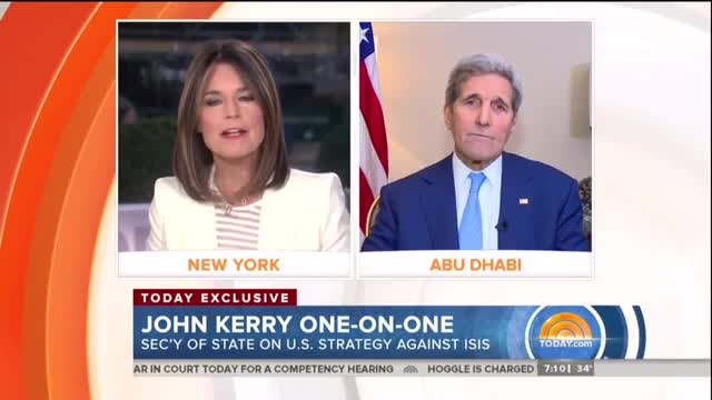NBC's Guthrie Fails to Ask Secy Kerry About Controversial Charlie Hebdo Comments