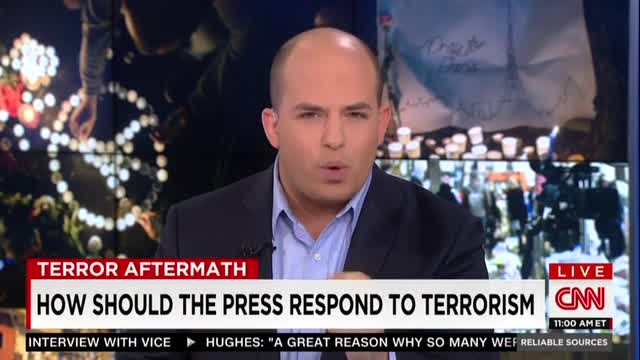 After Paris CNN's Stelter Dismisses American Fear of Terrorism