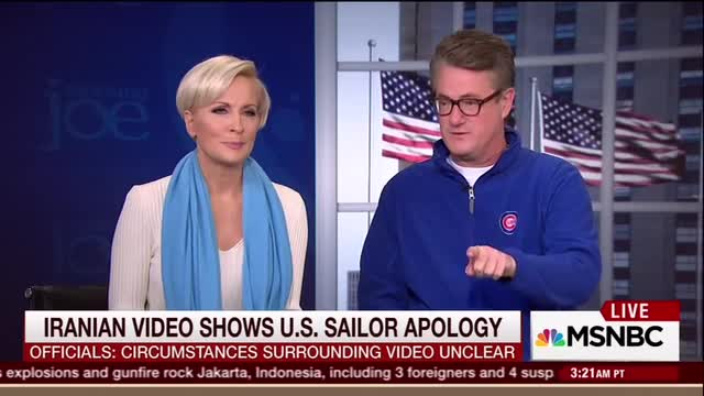 Joe Scarborough Assails Mika for Not Wanting to Talk About Detained Sailors