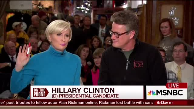 Gushing Mika to Hillary: 'I Would Vote for You' If You're the Nominee