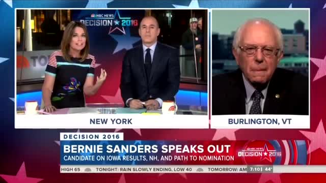 NBC Asks Sanders if Hillary's E-Mail Scandal Hurts Her 'Electability'